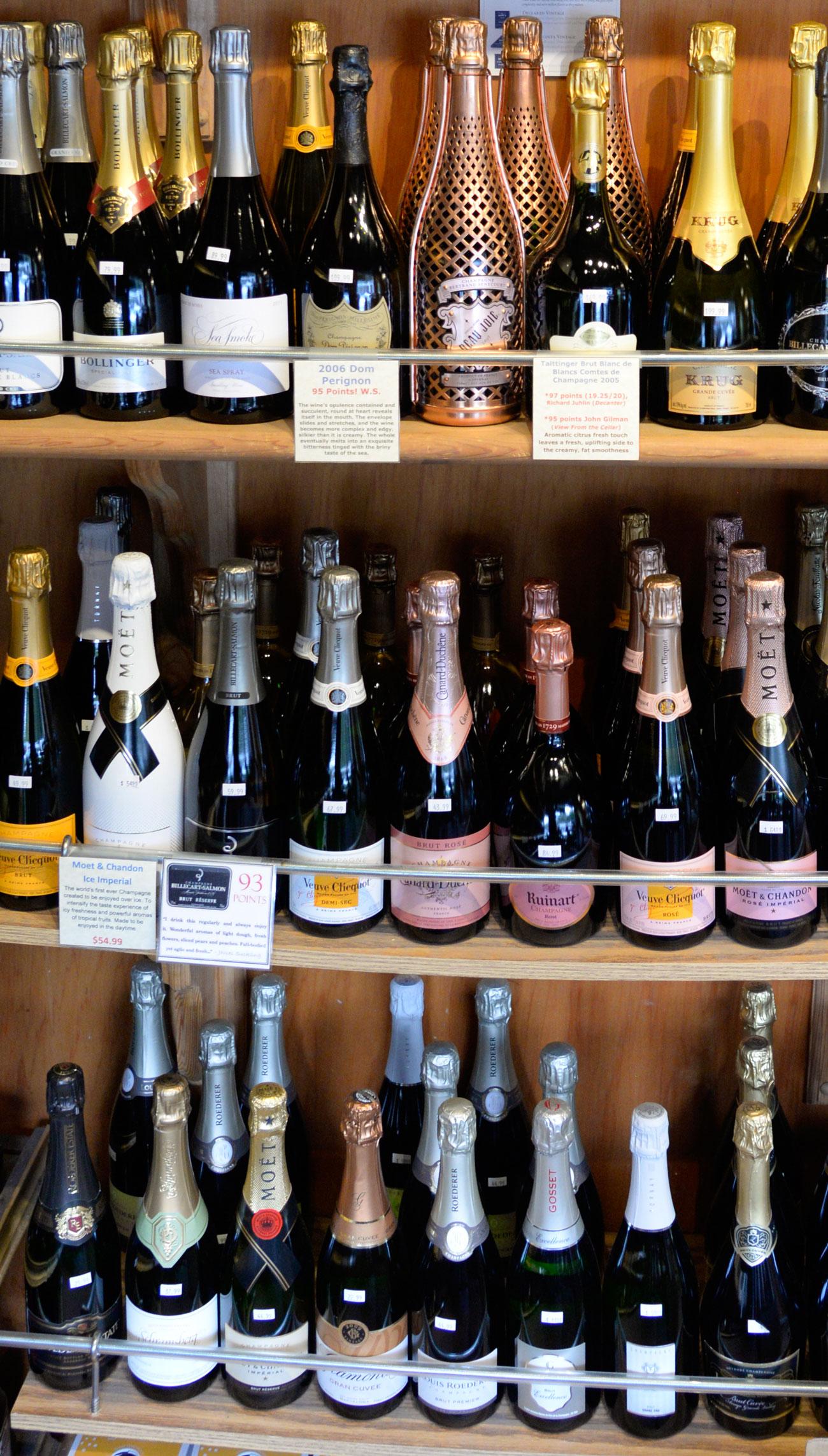 Dom Perignon Bollinger Champagne